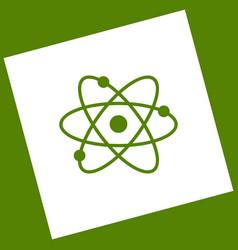 atom sign white icon vector image