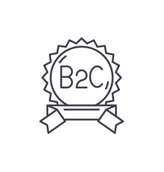 B2c line icon concept linear vector