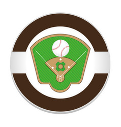 Baseball sport field emblem icon vector