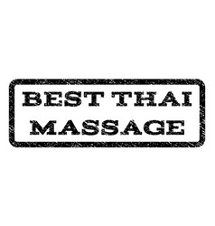 best thai massage watermark stamp vector image