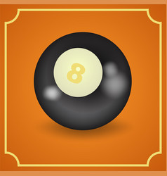 billiard ball - realistic design vector image