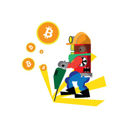 Bitcoin green drill vector