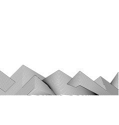 black and white line stripe wave background vector image