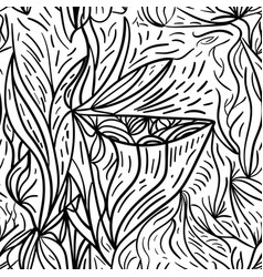 black and white lined seamless background vector image