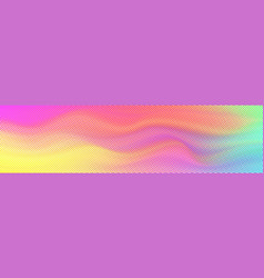 Bright abstract flowing halftone pattern modern vector