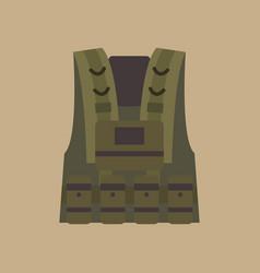 Bulletproof vest military equipment vector