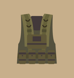 bulletprovest military equipment vector image