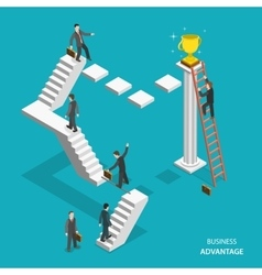 Business advantage isometric flat concept vector image