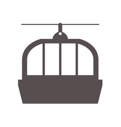 cable car icon vector image