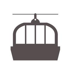 Cable car icon vector