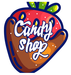 Candy shop hand drawn cartoon vector