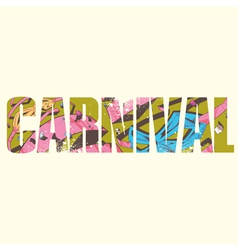 Carnival sign vector image