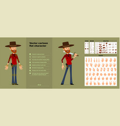 cartoon redhead lumberjack character set vector image