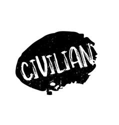 Civilian rubber stamp vector