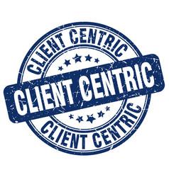 Client centric blue grunge stamp vector