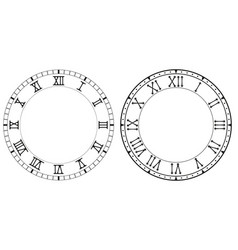 Clock face with roman numerals vector