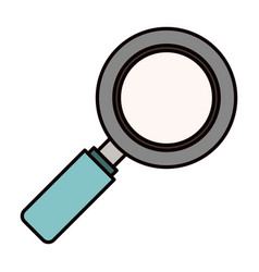 Color sketch silhouette side view magnifying glass vector