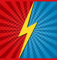 comic vs background battle superhero cartoon vector image