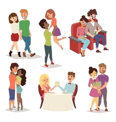 Dating couple set vector image