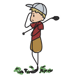 Doodle golfer vector