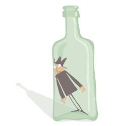 Drunkard Inside the Bottle vector image