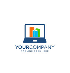 Ecommerce and chart finance for logo design vector