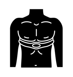 Electrical muscle stimulator glyph icon vector