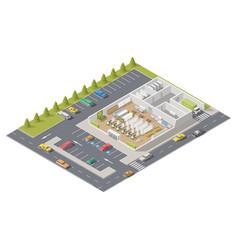 Element infographics representing supermarket vector