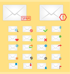 email envelope cover icons communication and vector image vector image