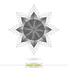esoteric mandala art vector image