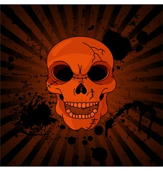 Evil skull vector