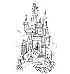 fantasy of medieval castle fairyland kingdom vector image