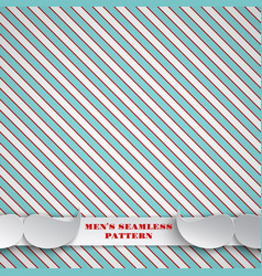 Fathers day seamless red-green pattern background vector