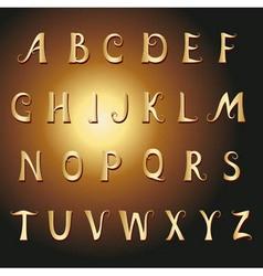 font vintage gold vector image