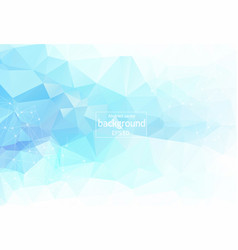 geometric light blue polygonal background vector image