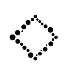 Geometrical abstract minimal monochrome circle vector