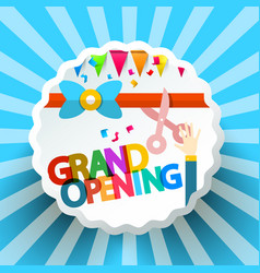 grand opening retro label vector image