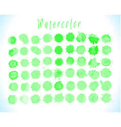 green watercolor splashes vector image