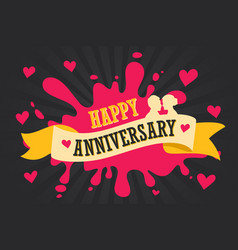 Happy anniversary template poster vector