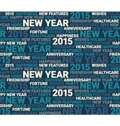 Happy new year seamless pattern vector