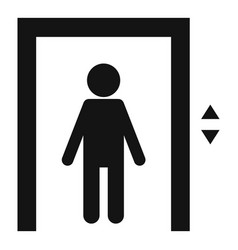 Kid in elevator icon simple style vector