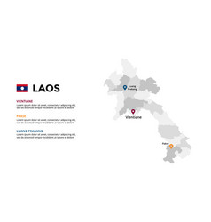 Laos map infographic template slide vector