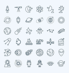 Line space icons vector
