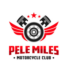 motorcycle club community logo design vector image