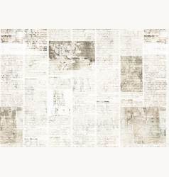 newspaper with old grunge vintage unreadable paper vector image