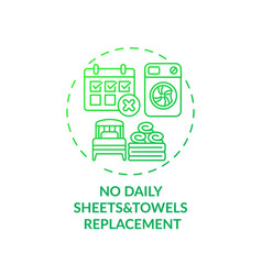 No daily sheets and towels replacement concept vector