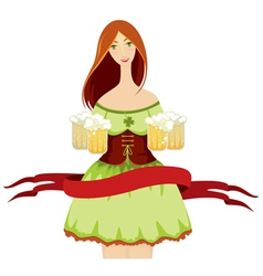 oktoberfest girl beer vector image