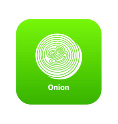 onion icon green vector image