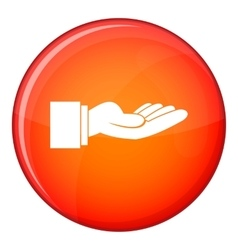 Outstretched hand gesture icon flat style vector