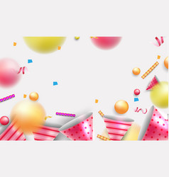 Party background with joyful elements vector